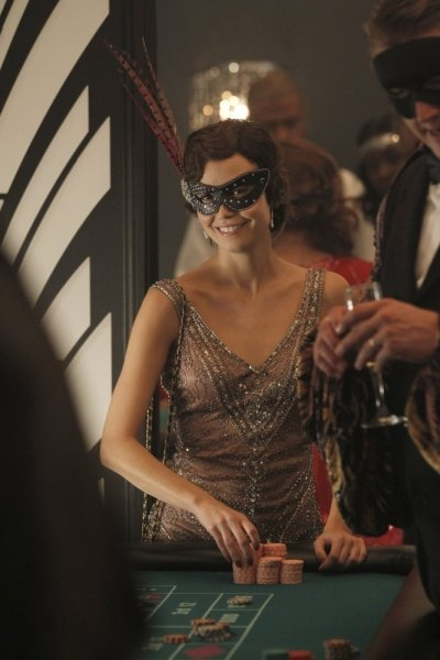 Summer Glau in a Sue Wong Dress
